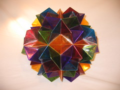 2010 Off the Roll Contest Entry (Happy Monkey) Tags: sculpture stilllife art geometric photo model handmade crafts contest arts craft hobby symmetry tape ornament polygon polygons 2010 polyhedron polyhedra doodad tapecraft offtheroll