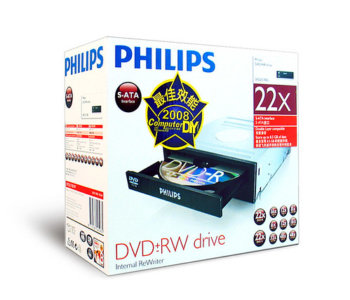 PHILIPS 22x DVD SATA燒錄機(SPD2519BD)
