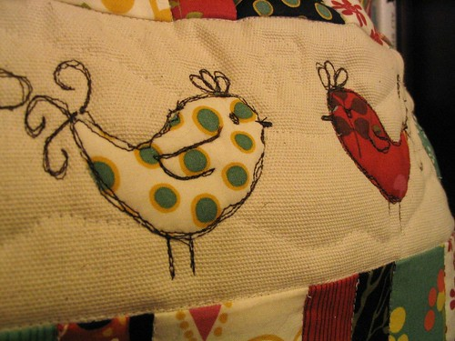 Birds Cushion Close Up