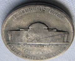 Faint mintmark on war nickel