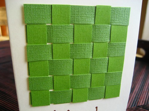 Card weave design