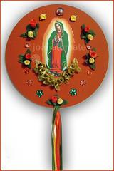 mandala Guadalupe (joanatomate) Tags: tiara flores santaluzia mandala feltro guadalupe madeira fita gancho trevo sãofrancisco oratório portachave matrisoka sãojudas coraçãotecido