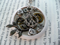 Hometown-inspired Steampunk Necklace