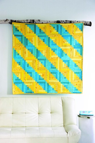 Bright Furrows Quilt from Modern Log Cabin Quilting