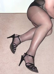 Bodyshaper & Sheer Nearly Black Tights 1 (ptxdview) Tags: tights crossdressing pantyhose