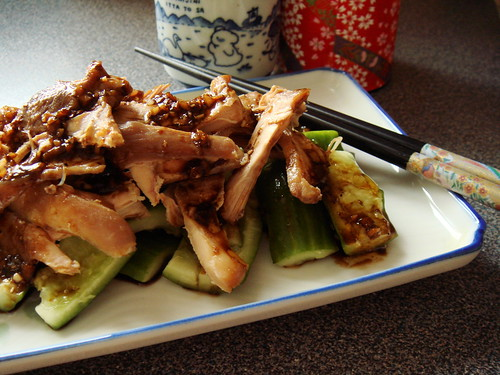 Shandong Shredded Chicken With Smashed Cucumbers 山東燒雞