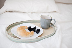 good morning (*Azzari) Tags: morning breakfast bed tea blueberry breakfastinbed gabriellekaiphotography