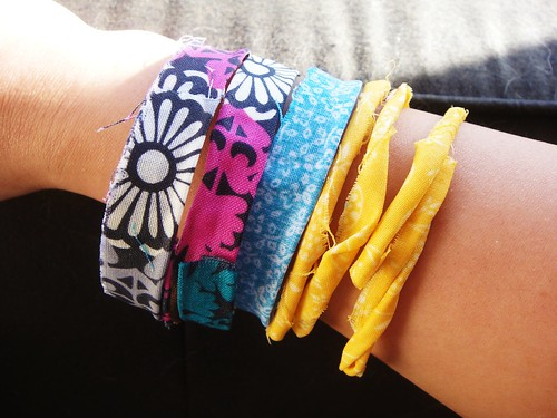 Fun Fabric Bangles with Fabric Stiffener