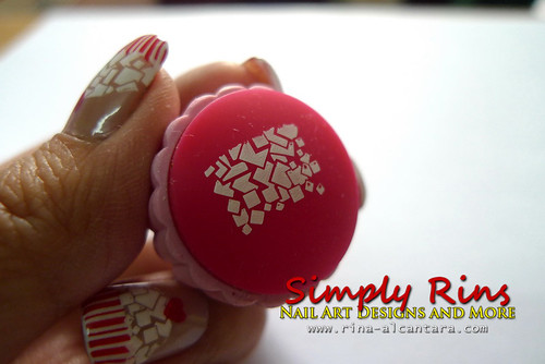 Cupcake Nail Art Using Konad 05