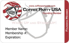 Coffee Party membership card