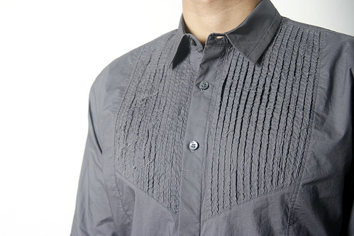 tuxedo pleat shirt