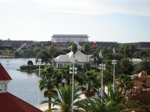 View of Wedding Pavillion over to Polynesian from the Grand Floridian