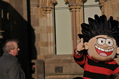 Bemused (Paul..Andrews) Tags: 22 scotland faces dundee beano characters dennisthemenace journalist spnp strictlycomedancing dundeepeople johnsergeant streetphotographynowproject instruction22 canoneos350ddundee