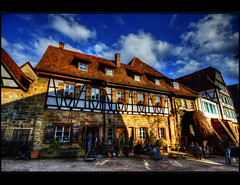 Cosy cloister coffee (Kemoauc) Tags: sky cloud abbey photoshop nikon himmel wolken marketplace cloister hdr fachwerk fachwerkhaus framehouse d90 maulbronn photomatix nikond90 hdrterrorist kemoauc