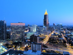 Atlanta HDR (2D) (Blue Goose Inn by D.Broberg) Tags: city morning atlanta skyline architecture canon landscape cityscape midtown predawn hdr 4exp sx110is