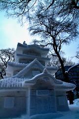 A Minuature as tall as a Tree (TheTownSheriff) Tags: winter japan sapporo hokkaido 北海道 日本 冬 icesculptures 札幌 yukimatsuri snowsculptures 雪祭り
