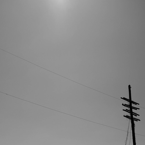 Big sky and power lines // East Austin
