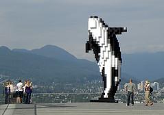 """Douglas Coupland's """"Digital Orca"""" (Langara Voice) Tags: vancouver douglascoupland vancouverconventioncentre olympiccauldron digitalorca"""