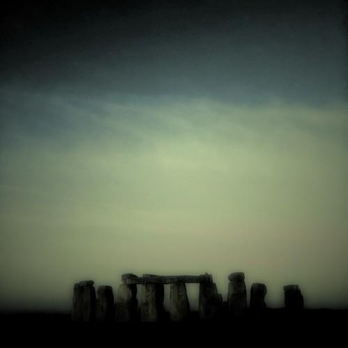 eerie image of Stonehenge