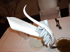 folded napkin - swan