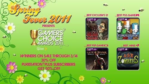 Spring Fever - Gamers' Choice Award winners