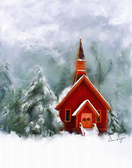 03_Yosemite Chapel (YOSEMITEDONN) Tags: mixedmedia digitalpainting nmpemulation