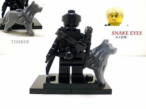Custom minifig Snake Eyes custom lego minifigure