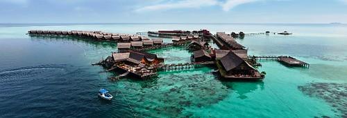 Aerial Kapalai Dive Resort small