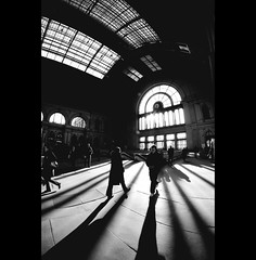 Day Sixty-eight (ODPictures Art Studio LTD - Hungary) Tags: shadow bw train canon eos hungary angle budapest wide silhouettes fisheye 365 8mm ultra keleti 500d demography samyang unning plyaudvar absoluteblackandwhite orbandomonkoshu