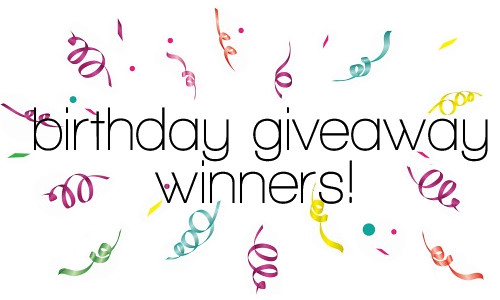 birthday giveaway winners