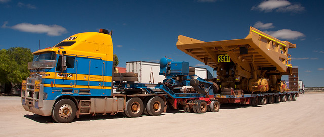 CAT 785C Mining Truck being transported