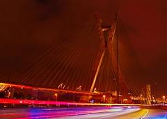 X Bridge (. Marzo   Photography .) Tags: bridge light colors night rebel sopaulo x bynight ponte sampa sp noturna luzes overexposure nocturne marginalpinheiros t2i estaiada ponteestaiada octviofriasdeoliveira gettyimagesbrasil