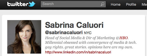 Sabrina Caluori - HBO's Head of Social Media