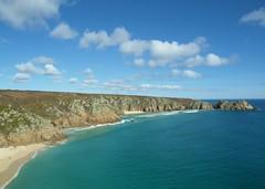 Cornish Coast 37 (Frank Gane) Tags: sea sky people sun beach beautiful sunshine rock clouds walking coast cornwall theatre path walk small stunning nudist logan picturesque porthcurno minack mygearandme mygearandmepremium
