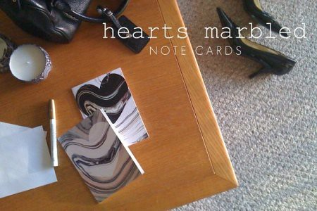 Hearts Marbled Black