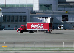 SF October 2, 2009 (26) (Photo Nut 2011) Tags: sanfrancisco california truck airport coke soda cocacola softdrink sanfranciscointernationalairport