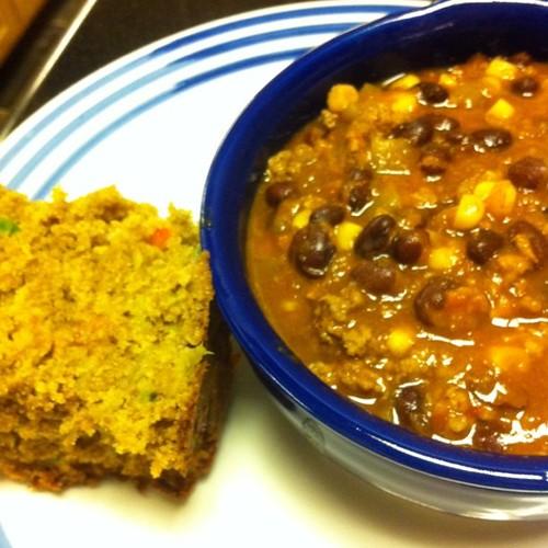 Taco Soup + Cheddar Pepper Wheat Bread