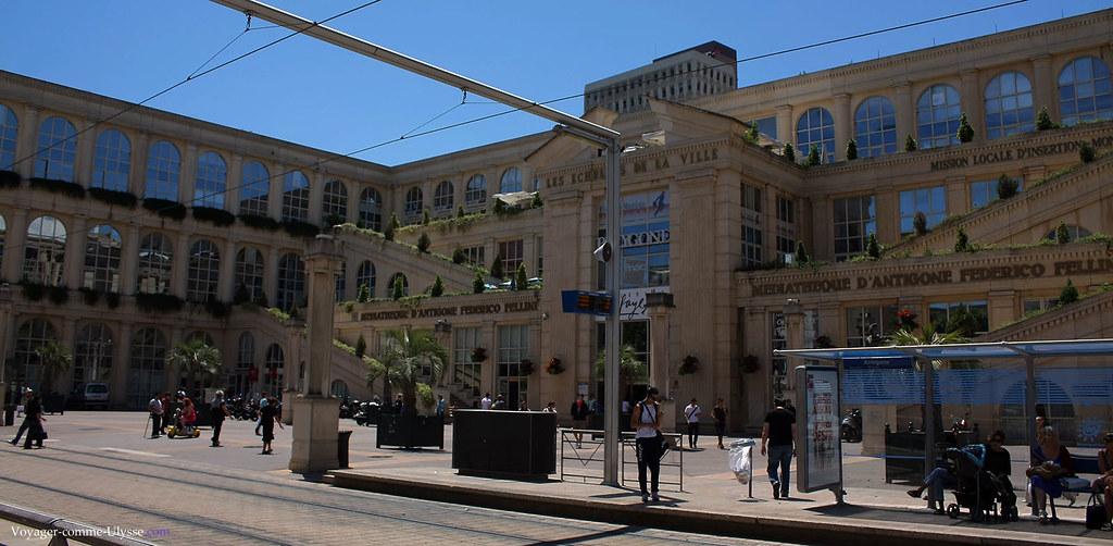 Centre commercial du Polygone : l'édifice est inspiré des jardins de Babylone