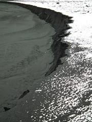 Crescent Beach (Lauren Bansemer) Tags: snow abstract black beach iceland sand crescent vik vkmrdal
