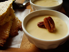 Butterscotch Pudding With Buttered Pecans