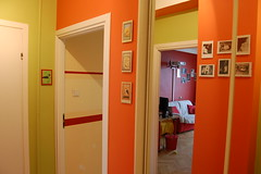 Confusion (calveit) Tags: red orange white green mirror doors flat space room confused otherside