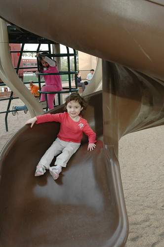 Madeline on the slide