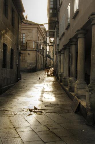 Street and light. Pontevedra. Galicia. Calle y luz