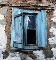 (-Filippos-) Tags: old blue broken window wooden cyprus 2009 kypros
