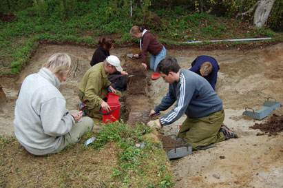 Arkeologisk utgravning i Láksjohka i Tana II