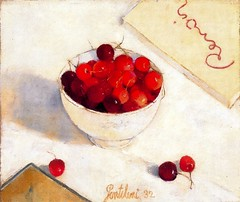 Gentilini, Franco (1909-1981) - 1932 Cup of Cherries (Private Collection) (RasMarley) Tags: stilllife fruit 1932 1930s italian painter 20thcentury privatecollection gentilini postimpressionism cupofcherries francogentilini