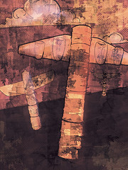 Totemic (GollyMiss) Tags: new water airplanes totem pole oil poles fuel totems