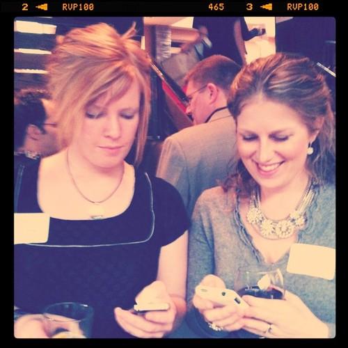 Twestival! @yelpcalgary & @familyfuncgy (Wendy & Melissa)