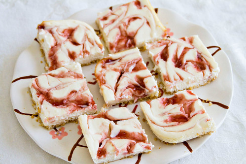 Strawberry Swirl Cheesecake Bars - 6