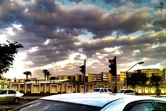 Cloudy Morning (Ruby Inspiration (Amani Nasser)) Tags: city morning trees light sky streets cars clouds traffic capital saudi arabia riyadh hdr ksa